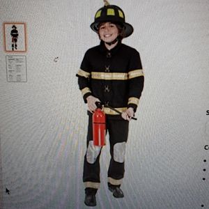 Charades- Firefighter Child Costume  . Size small